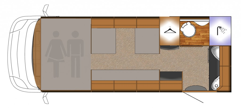 AutoTrail Tribute T620 Floorplan